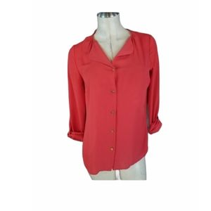 3/$25 The Limited XS Coral Button Up Shirt